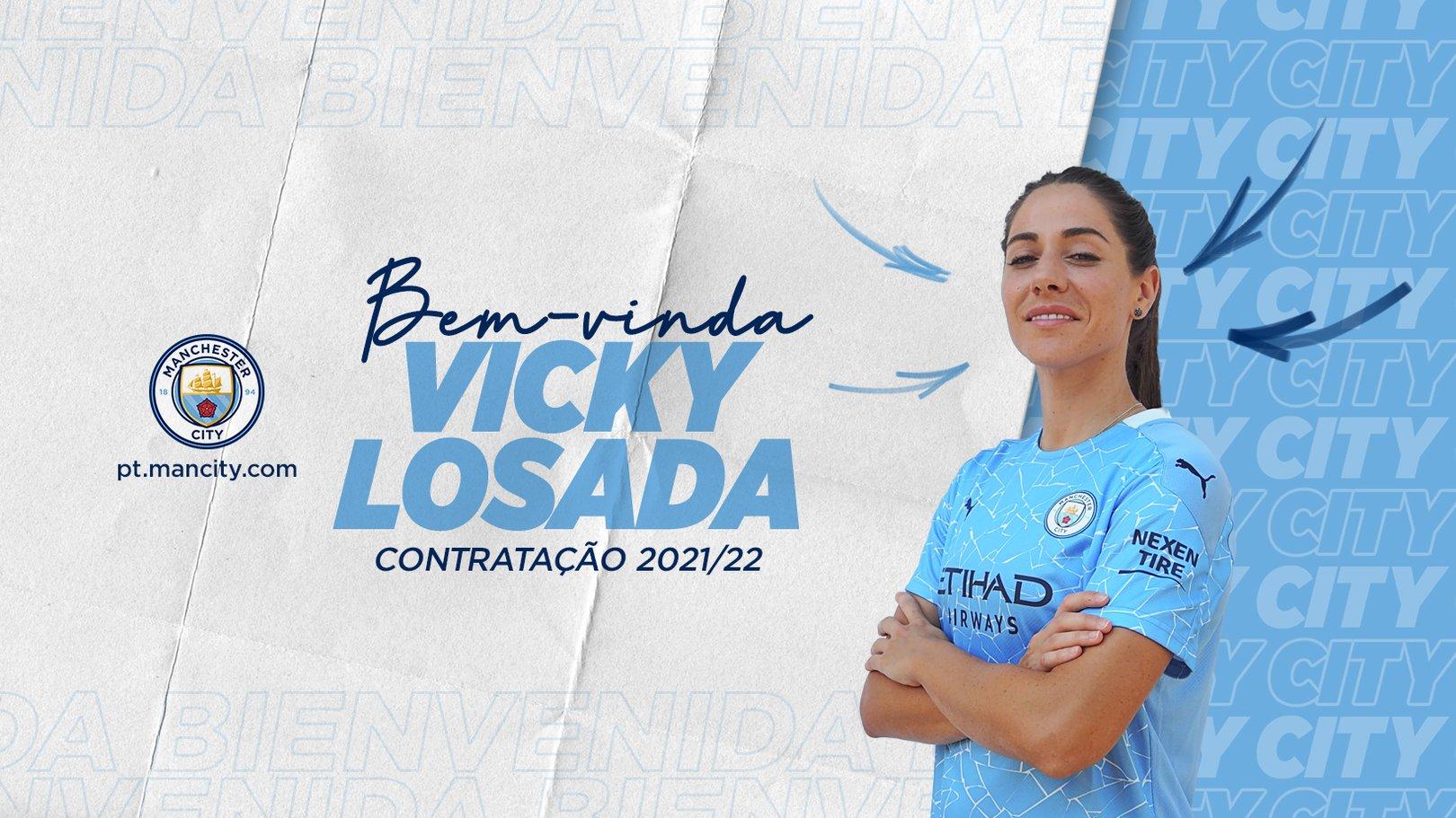 Vicky Losada assina com o City