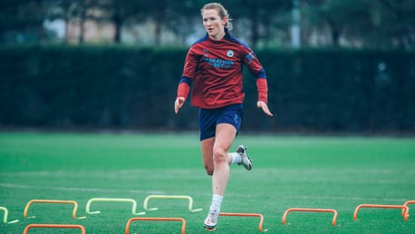 JUMP STAR: Sam Mewis enjoyed a successful trip with the United States, triumphing 2-0 against the Netherlands with her sister Kristie on the scoresheet!