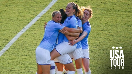 WULLAERT WINNER: City celebrate, as Tessa Wullaert nets in injury time
