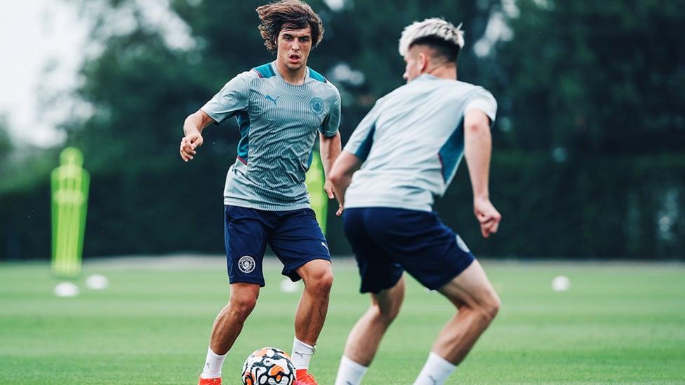 POSITIVE PLAY: Pablo Moreno drives forward