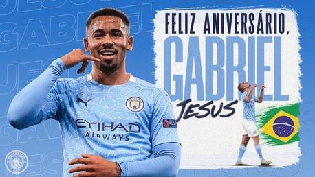 Feliz aniversário, Gabriel Jesus!