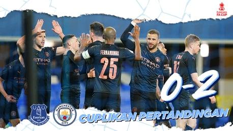 Everton 0-2 City: Cuplikan Pertandingan