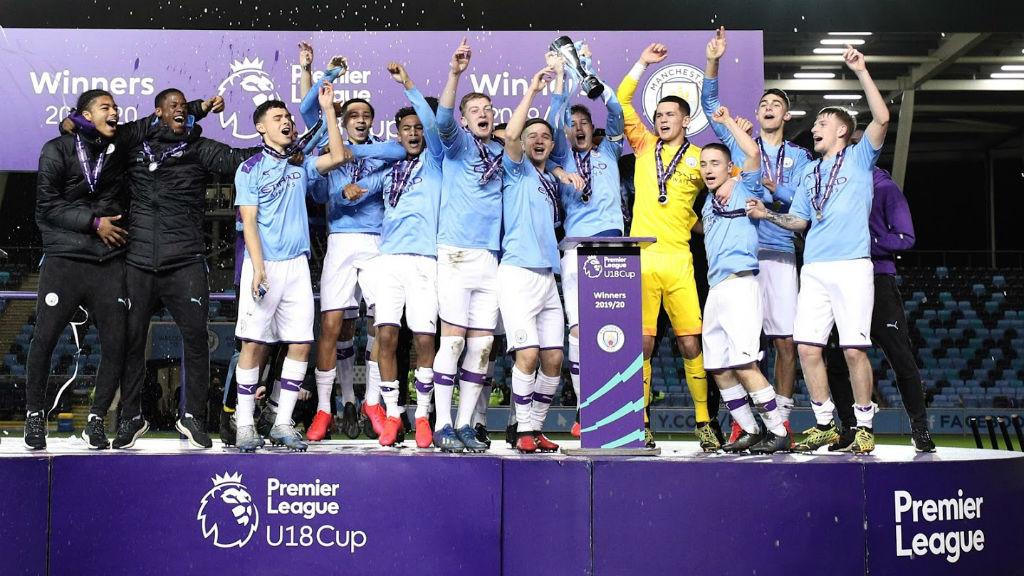 맨체스터 시티 U18 프리미어리그컵 우승!