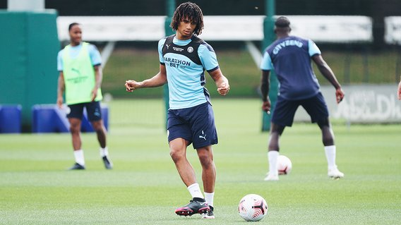 PASS MASTER: Nathan Ake is centre of attention