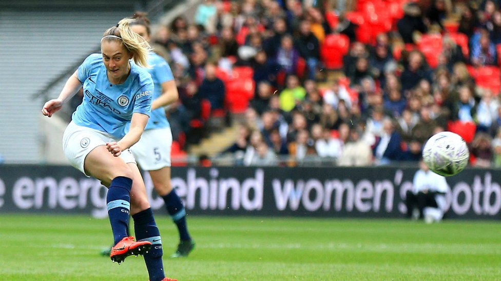 BLUE DREAMS : Lifelong City fan Keira Walsh opened the scoring from distance!