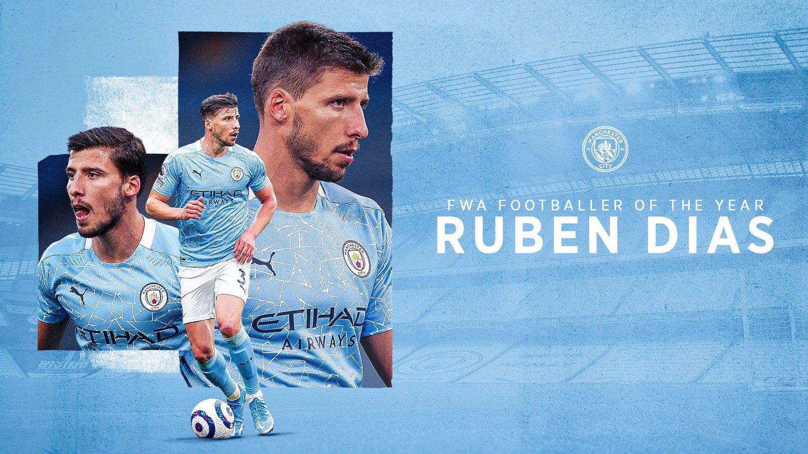 Rúben Dias eleito Melhor Jogador do ano 2021 pelos jornalistas