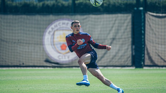 MIDFIELD MARVEL: Phil Foden spreads the play