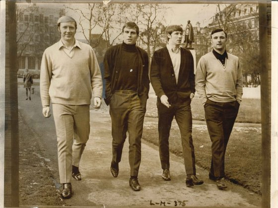 George Heslop, Alan Oakes, Colin Bell and Glyn (1970)