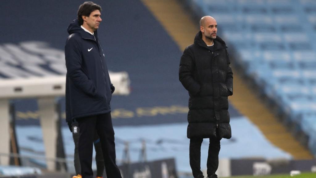 Viejos conocidos: Pep Guardiola y Aitor Karanka en los banquillos.