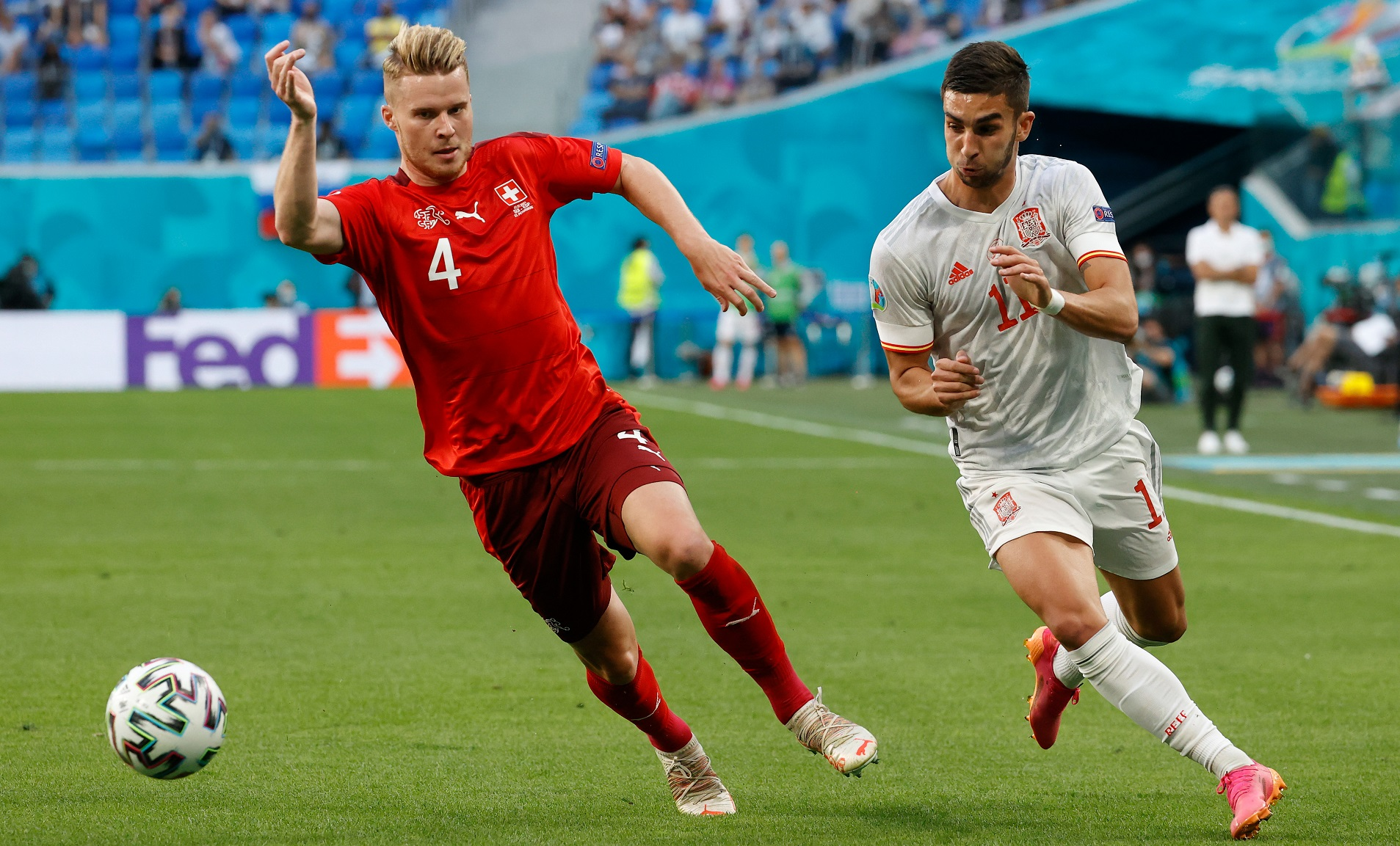 WING COMMAND: Ferran Torres in action during Spain's quarter-final win over Switzerland