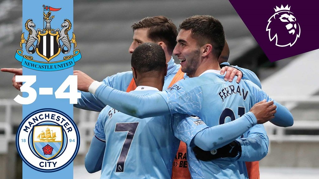 Newcastle 3-4 City: resumen breve