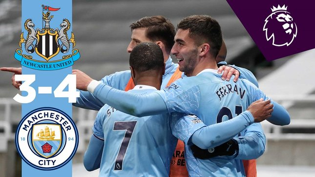 Newcastle 3-4 City: resumen breve