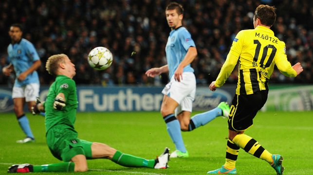 AMAZING DISPLAY : Hart's memorable performance against Borussia Dortmund in 2012.