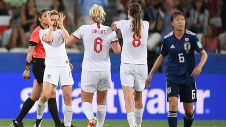WHITE HOT: Ellen White was on the scoresheet once again for the Lionesses