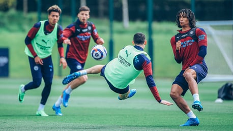 Champions training: Best team in the land...
