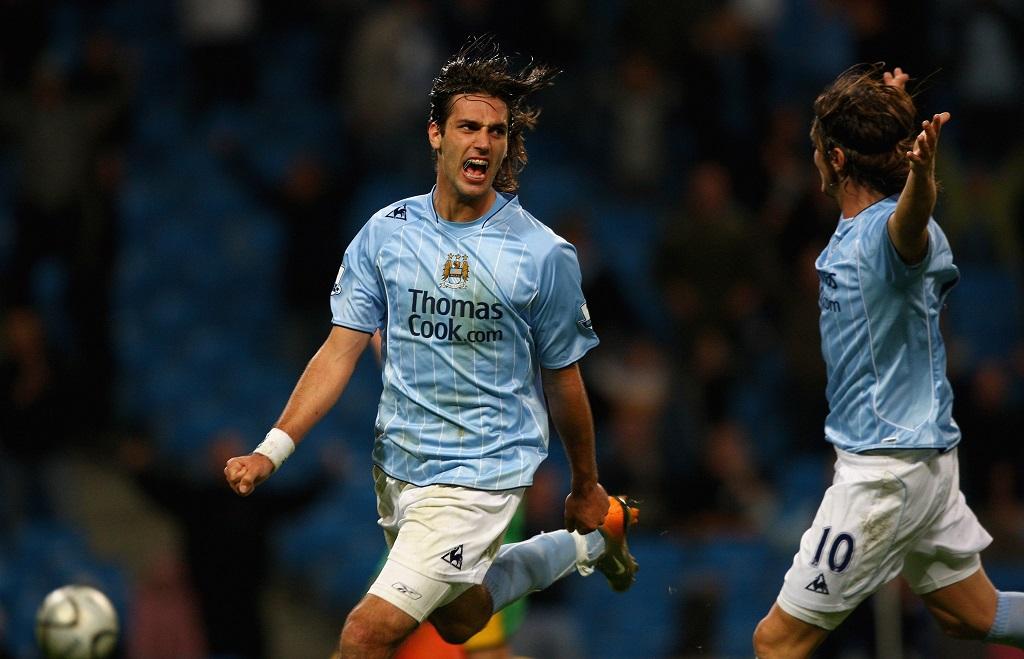 Samara playing for Manchester City