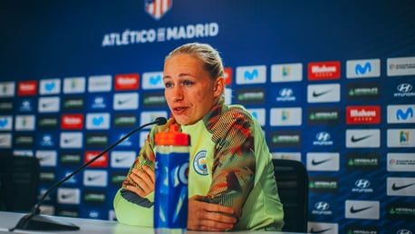 PRESS CONFERENCE: Pauline Bremer addresses the media ahead of the game