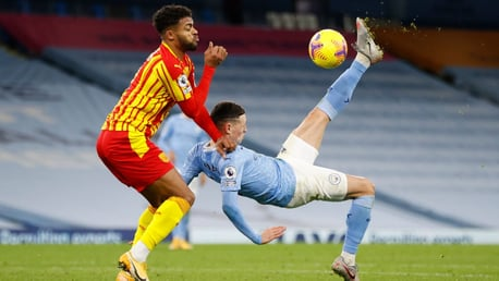 ACROBATICS: Foden tries to inspire City with something spectacular.