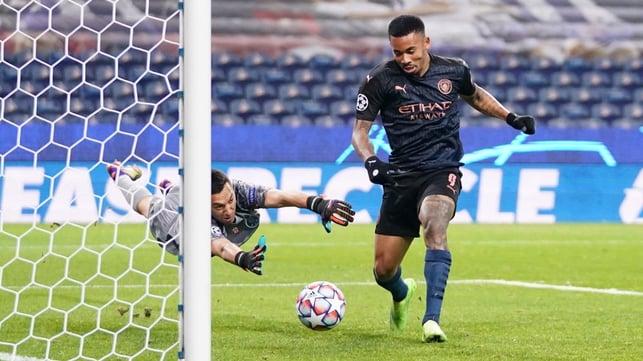 FINE MARGINS: Gabriel Jesus' winner is ruled out for an offside
