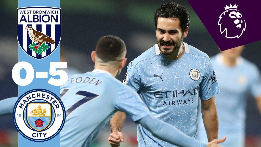 West Brom 0-5 City: Cuplikan Lengkap