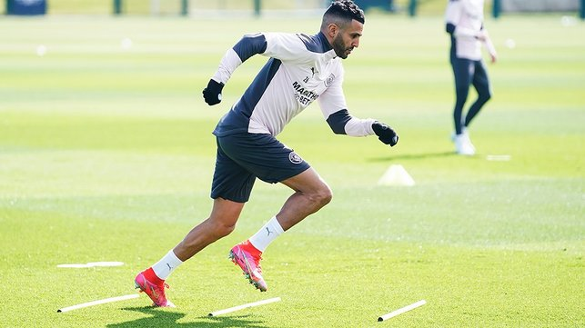 TURN OF PACE: Riyad Mahrez shows a clean pair of heels