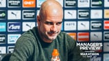 PEP TALK: The boss has given us an update ahead of the game at Arsenal