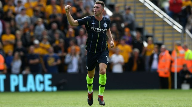 LEVEL BEST : Aymeric Laporte celebrates after heading home his first goal for the club