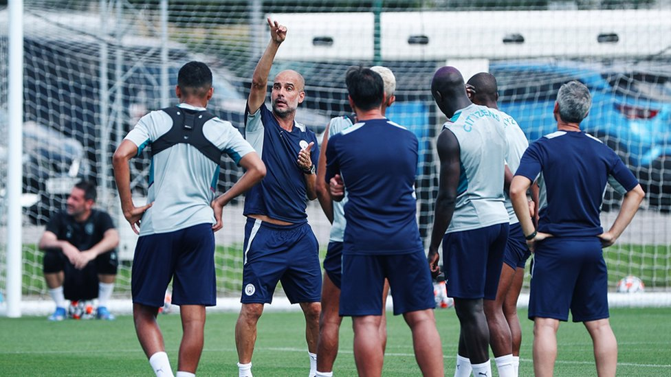 PEP TALK: The boss passes his knowledge onto the players