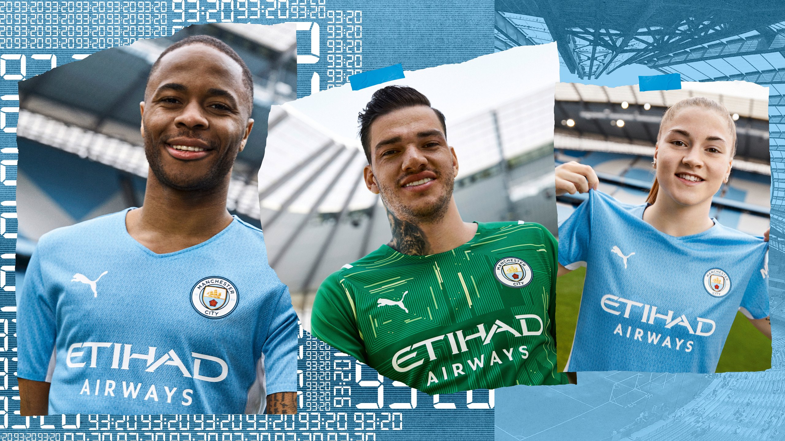 City and PUMA unveil new 2021-22 home kit in tribute to 93:20 goal