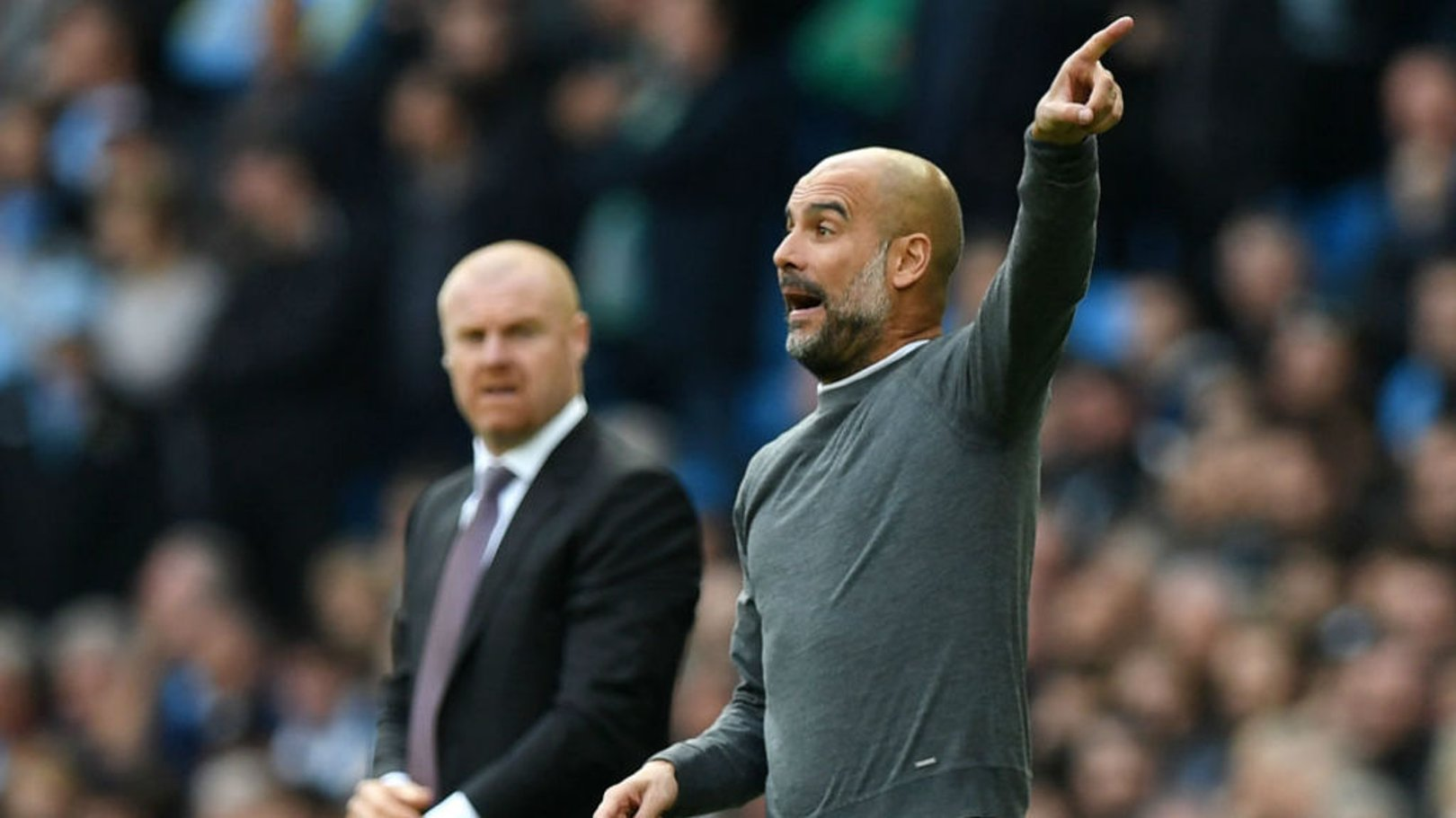 PEP TALK: The boss fires out some instructions