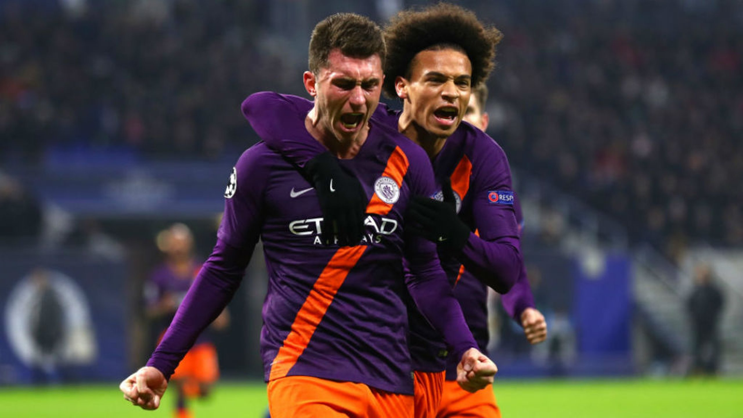 ROAR POWER: The expression on the face of Aymeric Laporte says it all