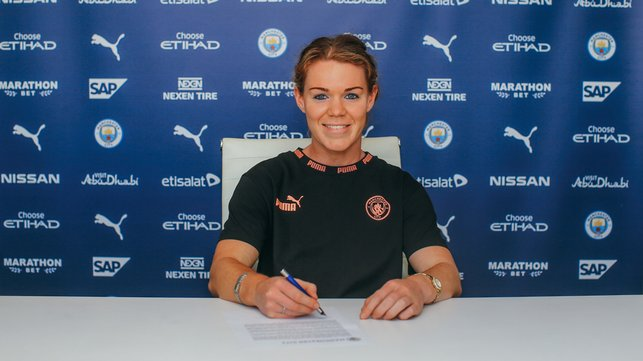 TWO BLUE : The 23-year-old has signed a two-year deal