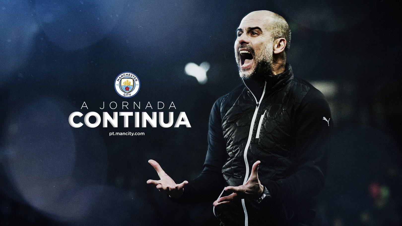 Pep Guardiola renova o seu contrato com o Manchester City até 2023