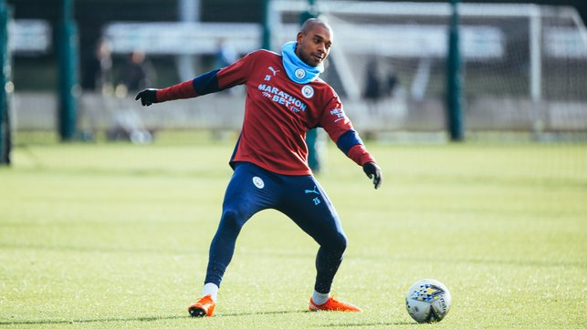 CAPTAIN'S CALL: Fernandinho goes through his paces