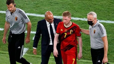 دي بروين يتعرض للإصابة وبلجيكا تتخطى البرتغال