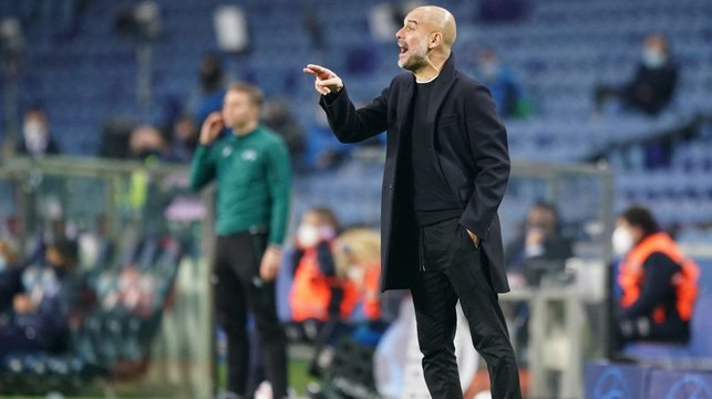 PEP TALK: The boss encourages the lads to the end