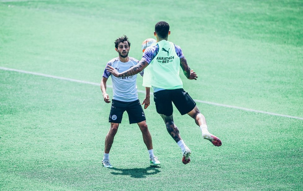 Jump! Bernardo keeps a close eye on Gabriel