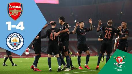 Arsenal 1-4 City: Full-match replay