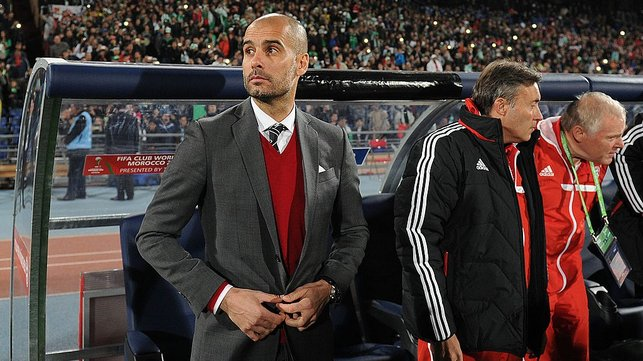 MOVE TO MUNICH : After leaving Barcelona, Guardiola joins Bayern Munich in 2013 and wins four major honours in his first season in Germany
