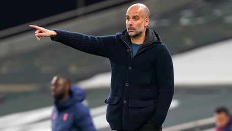 Pep Guardiola at the Tottenham Hotspur Stadium