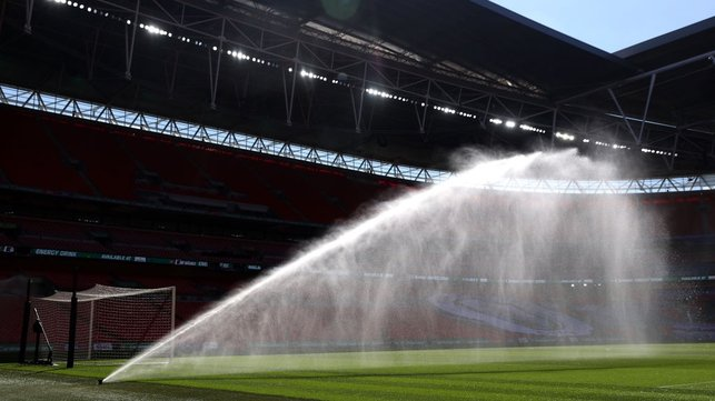 SECOND HOME : The stage is set for City's return to Wembley for the clash with Tottenham.