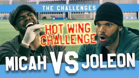 HOT STUFF: Micah Richards takes on Joleon Lescott in their latest challenge.