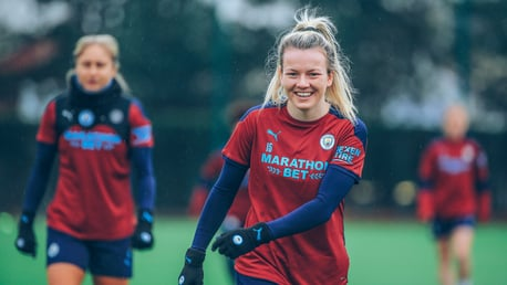 WELCOME BACK: A glorious sight to see Lauren Hemp back on the pitch