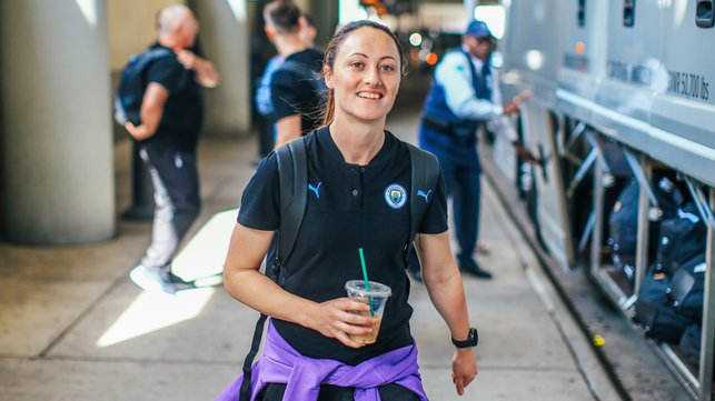 LOOK OF THE IRISH : The ever-cheerful Megan Campbell