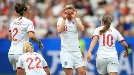 WINNING START: England claimed three points in their Group D opener against Scotland