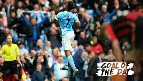 BOURNE SUPREMACY: Raheem Sterling celebrates in 2015