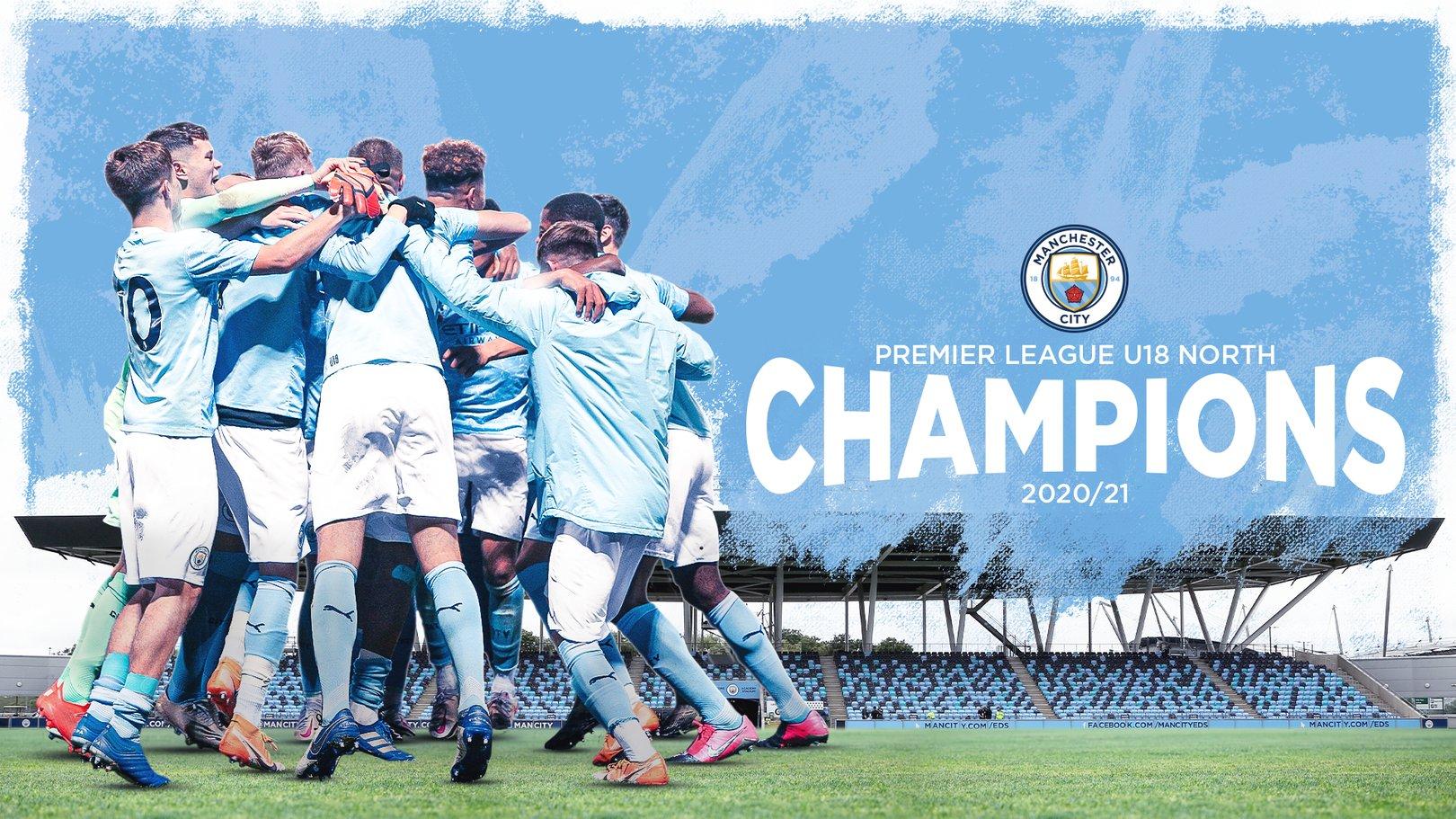 City crowned Under-18 Premier League North champions