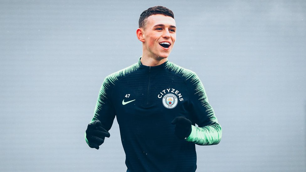 PHIL YOUR BOOTS : Phil Foden goes through his paces ahead of our Carabao Cup semi-final second leg trip to Burton