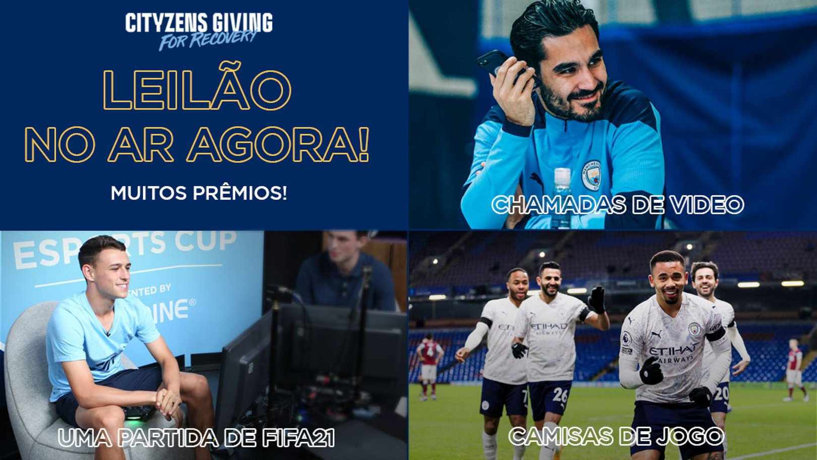 Leilão Cityzens Giving for Recovery Auction começou!