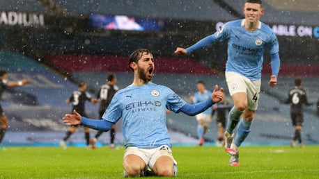 BRILLIANT BERNARDO: The match winner!